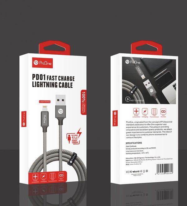 کابل شارژ Type C برند ProOne مدل PD01