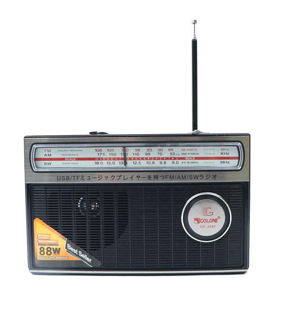 رادیو اسپیکر بلوتوثی رم و فلش خور Golon ICF-25BT