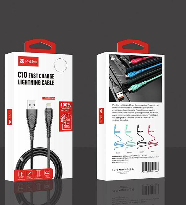 کابل تبدیل USB به Lightning پرووان مدل PCC175(C10)