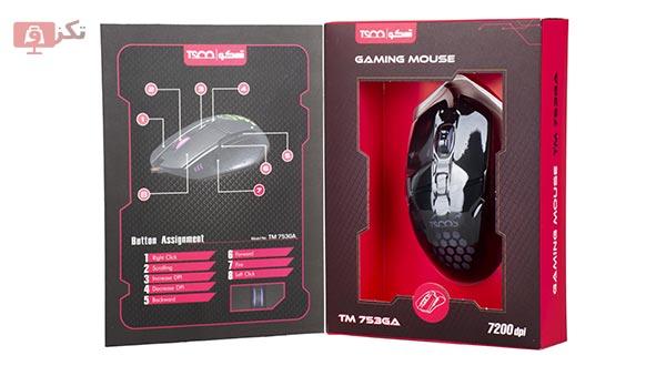 ماوس مخصوص بازی تسکو مدل TM 753 GA